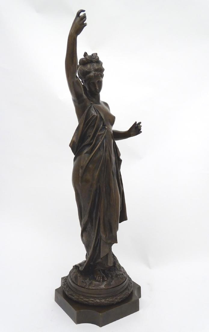 Anna Carrier XIX, Patinated  Bronze Sculpture, Draped