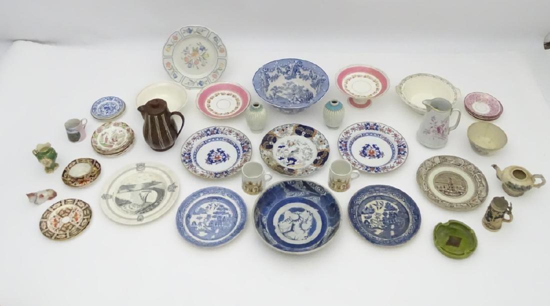 A quantity of assorted ceramics, makers to include