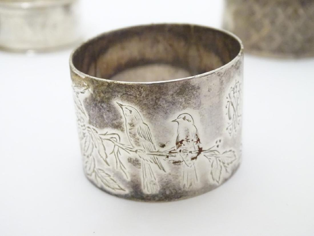 Various silver napkin ring to include examples - 2