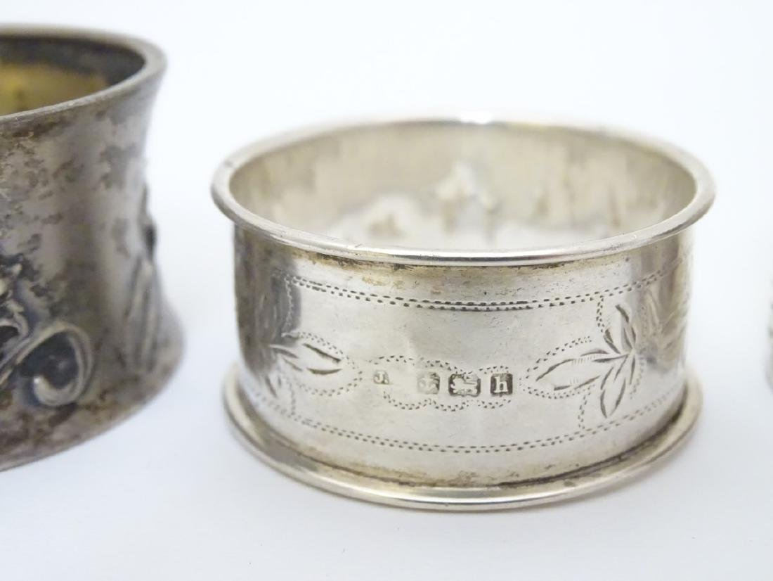 Various silver napkin ring to include examples - 4