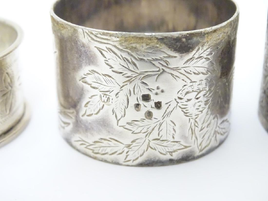 Various silver napkin ring to include examples - 5