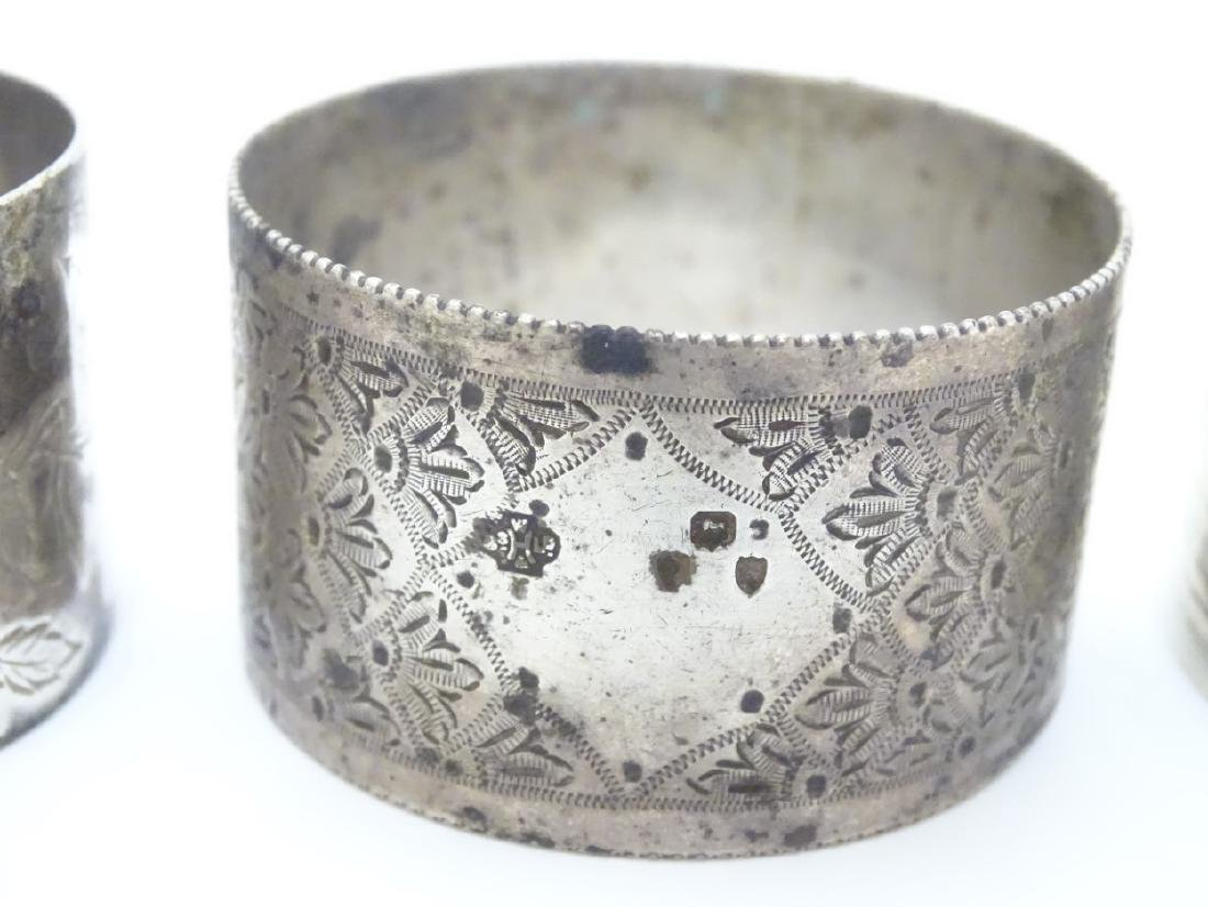 Various silver napkin ring to include examples - 6