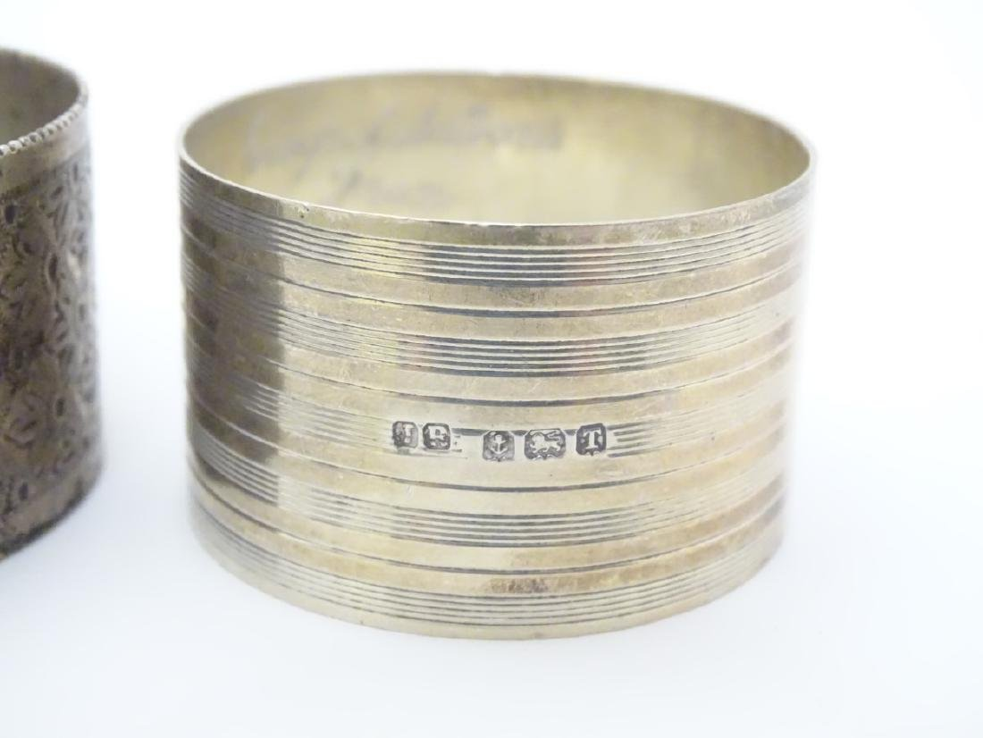 Various silver napkin ring to include examples - 7
