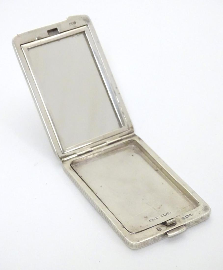A silver compact case of rectangular form hallmarked - 5