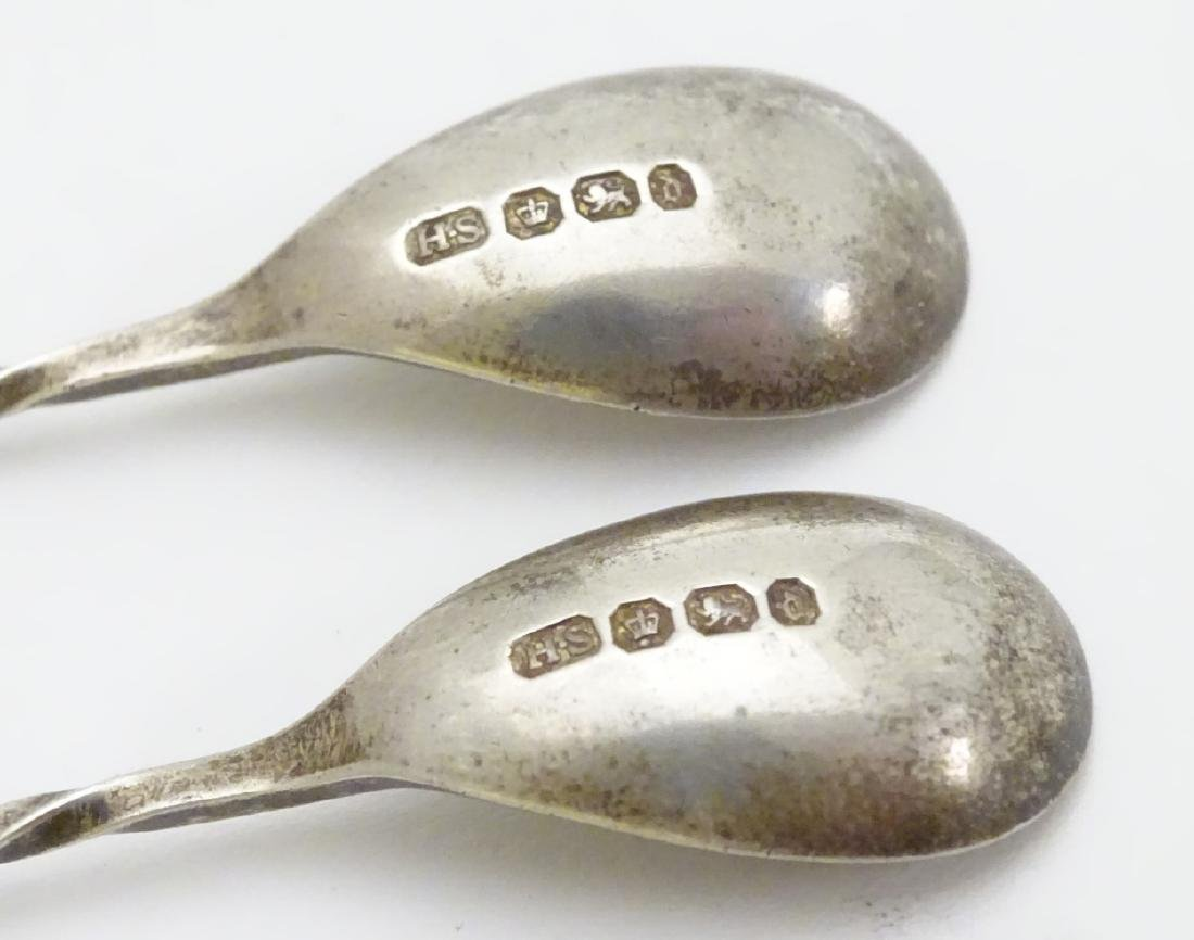 Assorted silver salt and mustard spoons including a - 2