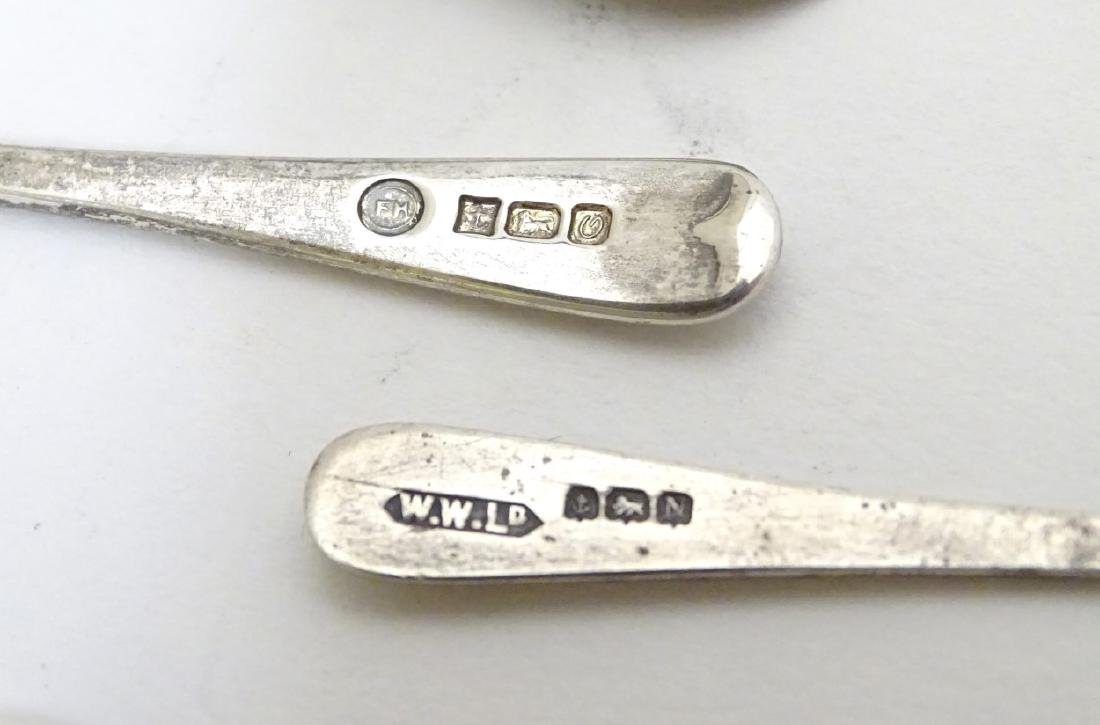 Assorted silver salt and mustard spoons including a - 6