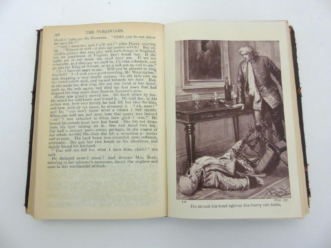 Book: W.M Thackeray The Virginians 1859. Illustrated by - 5
