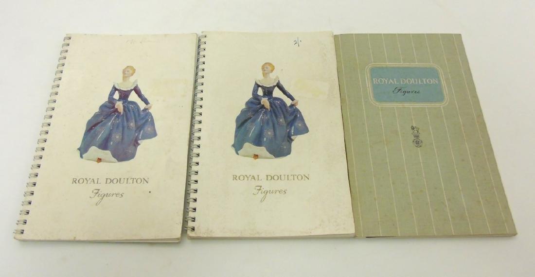 A spiral bound book of Royal Doulton figures.