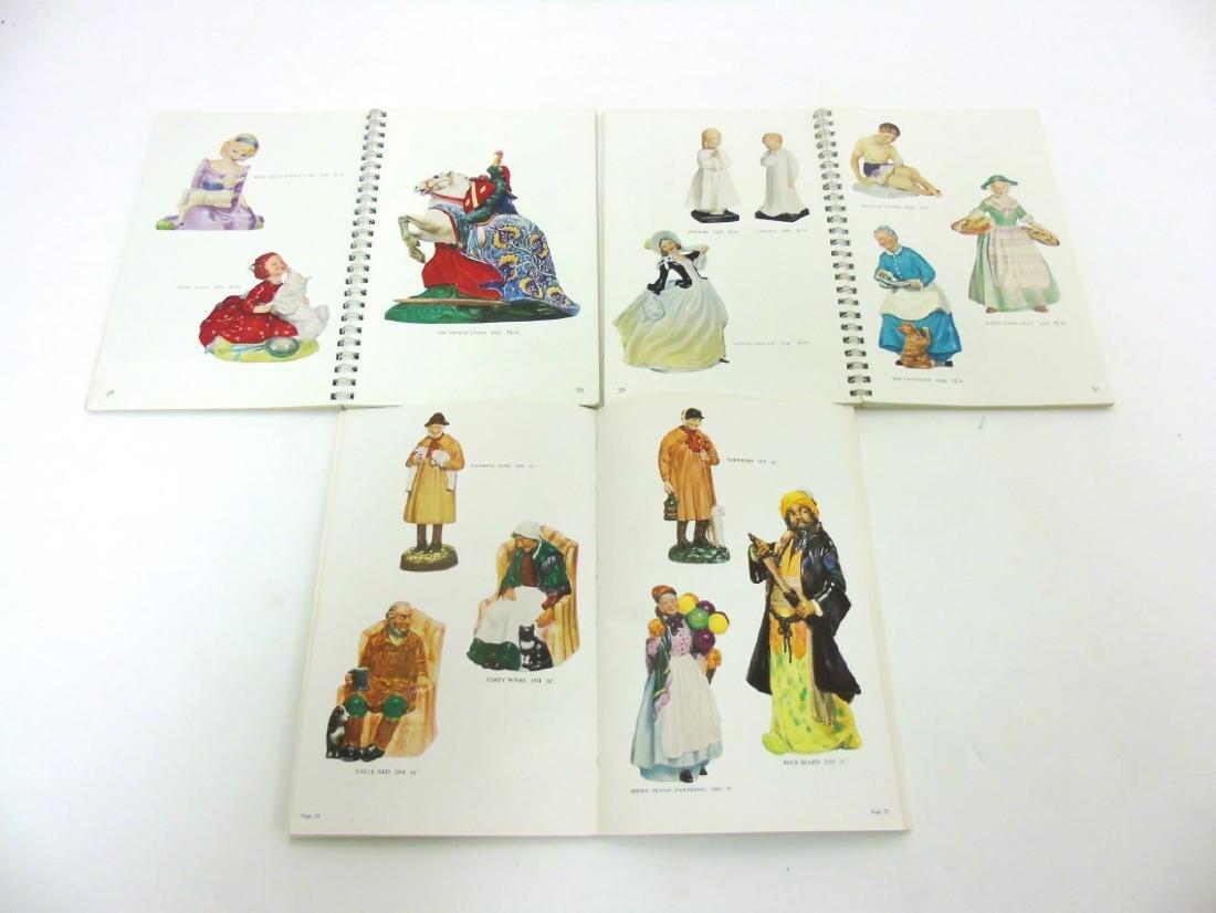 A spiral bound book of Royal Doulton figures. - 4