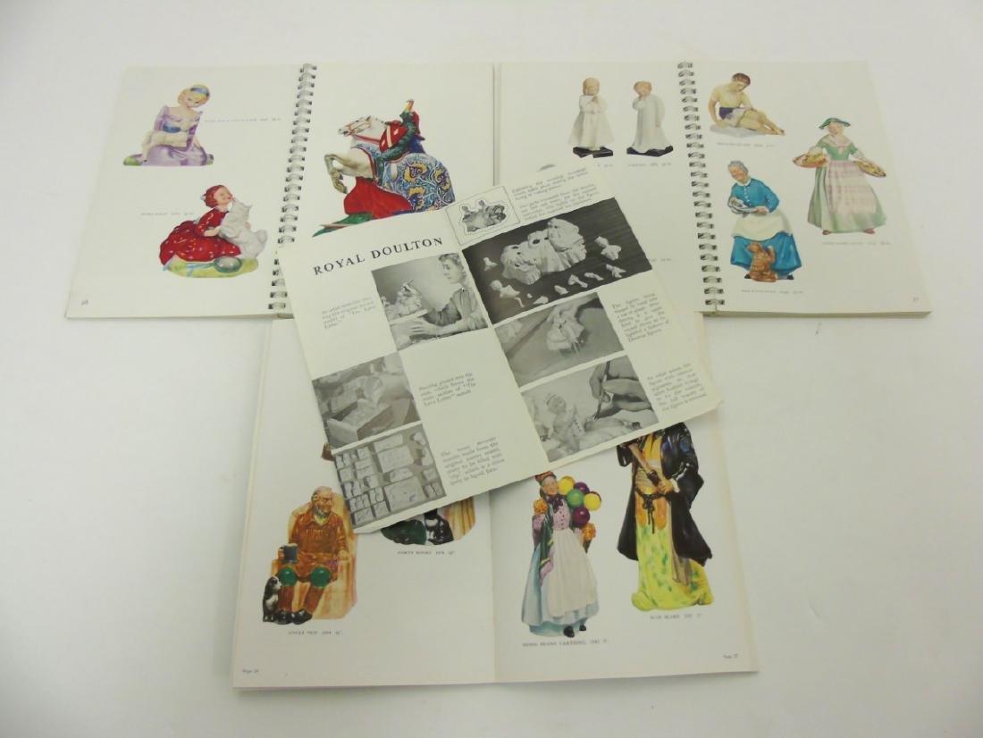 A spiral bound book of Royal Doulton figures. - 5