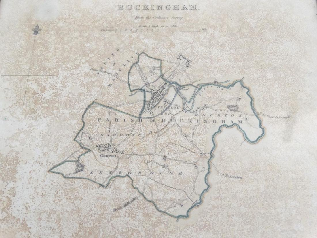 Map: ''Buckingham'' A c1832 Lithographic map of - 4