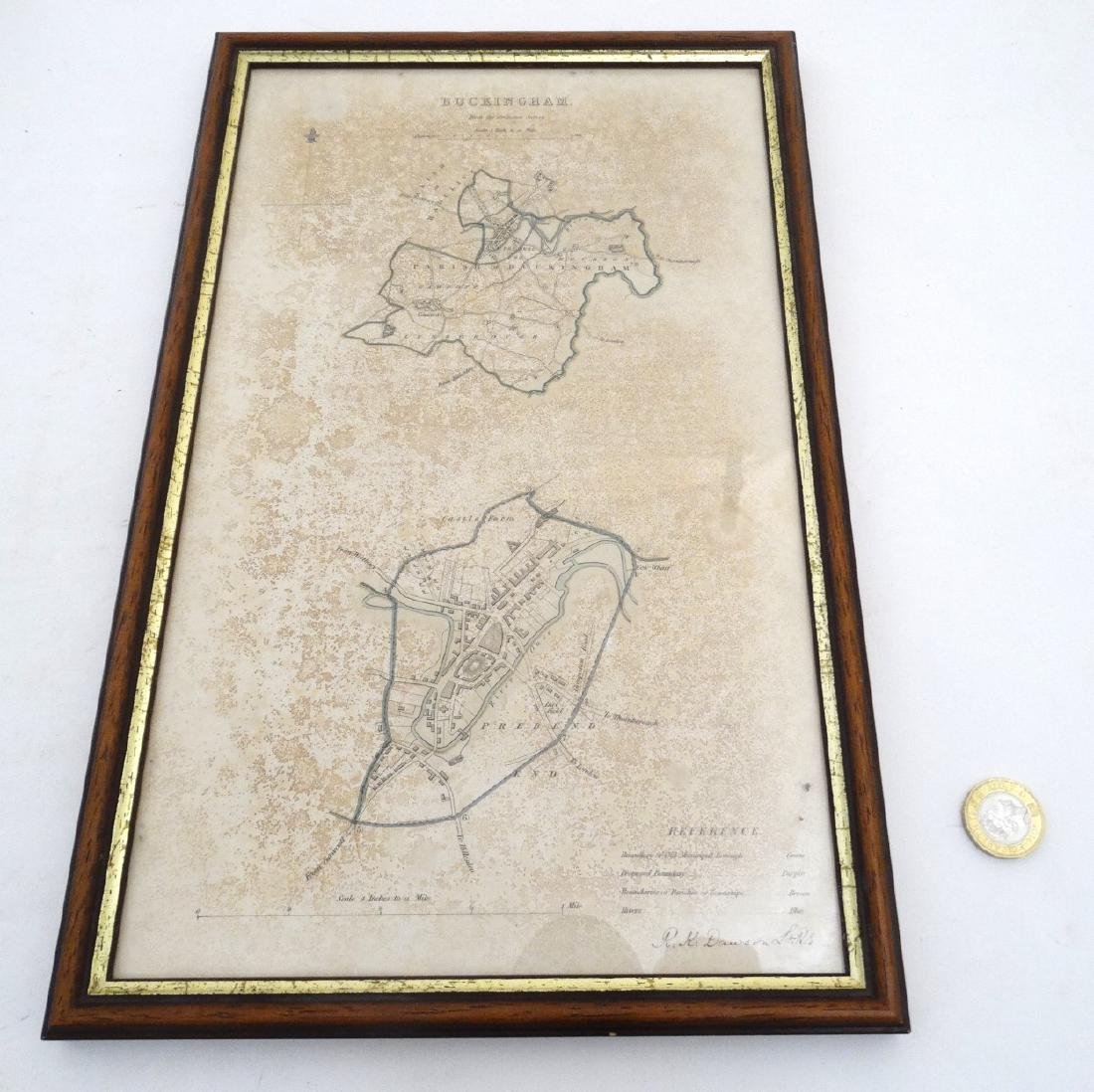 Map: ''Buckingham'' A c1832 Lithographic map of - 5