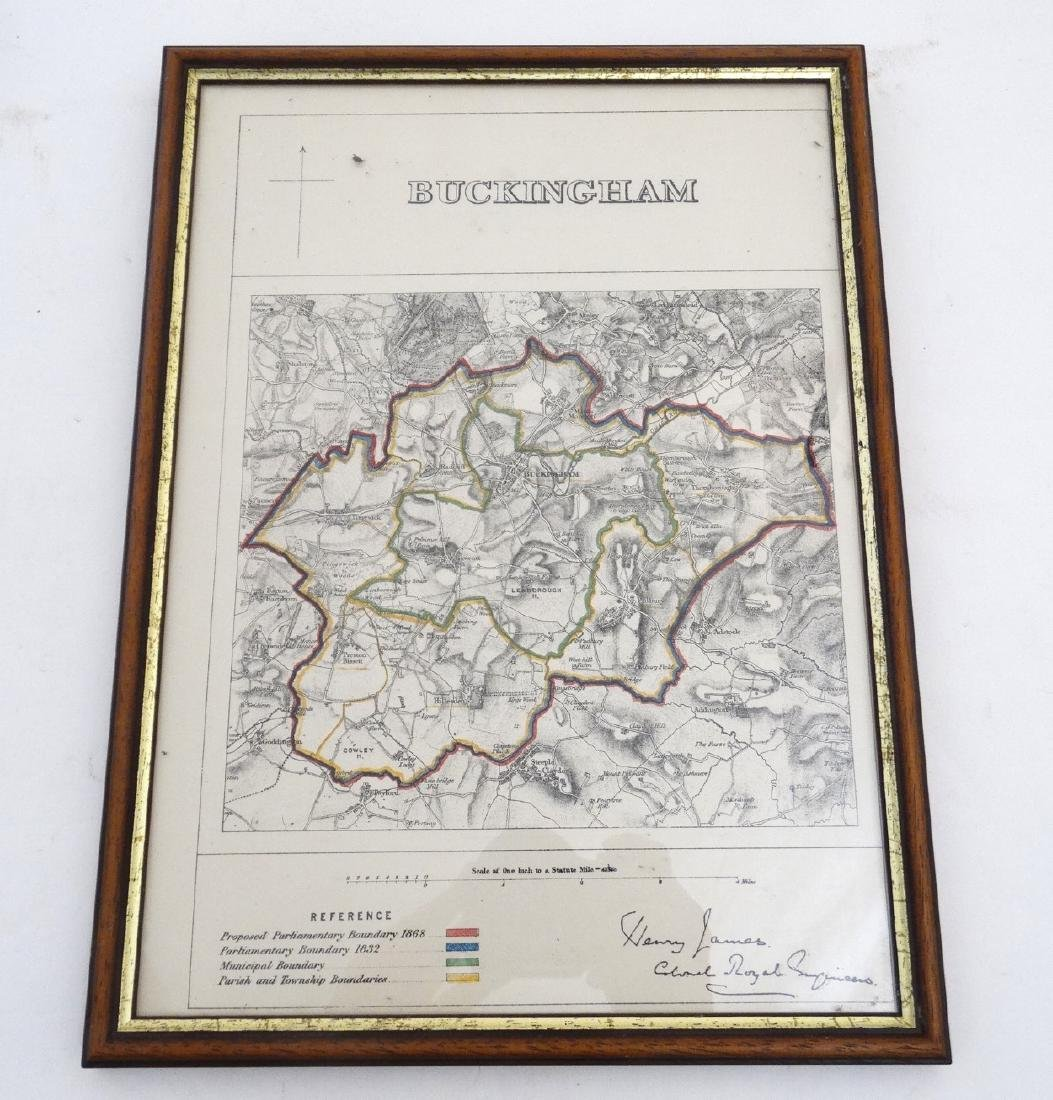 Map: ''Buckingham'' A c1868 map page of Buckingham by