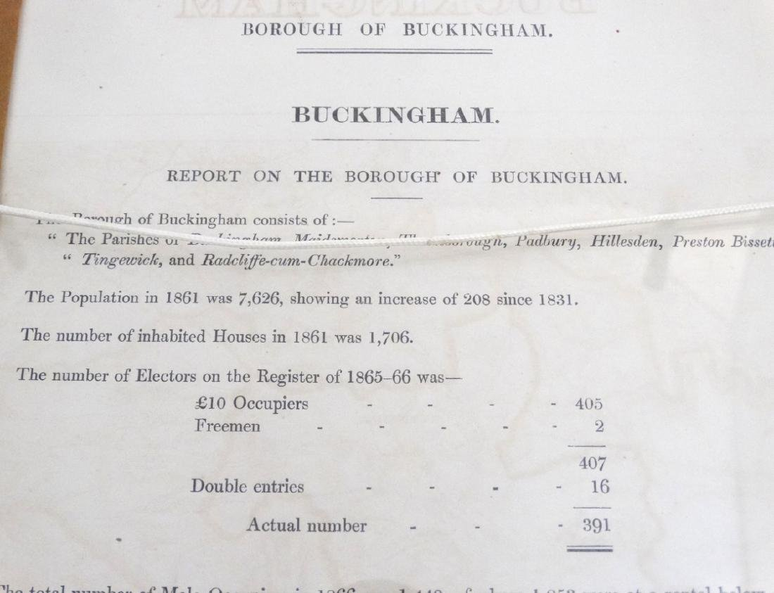 Map: ''Buckingham'' A c1868 map page of Buckingham by - 2
