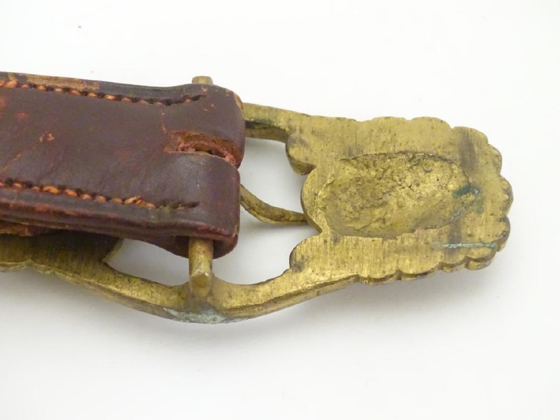 Militaria: A British Army Officer's 19thC gilt brass - 2
