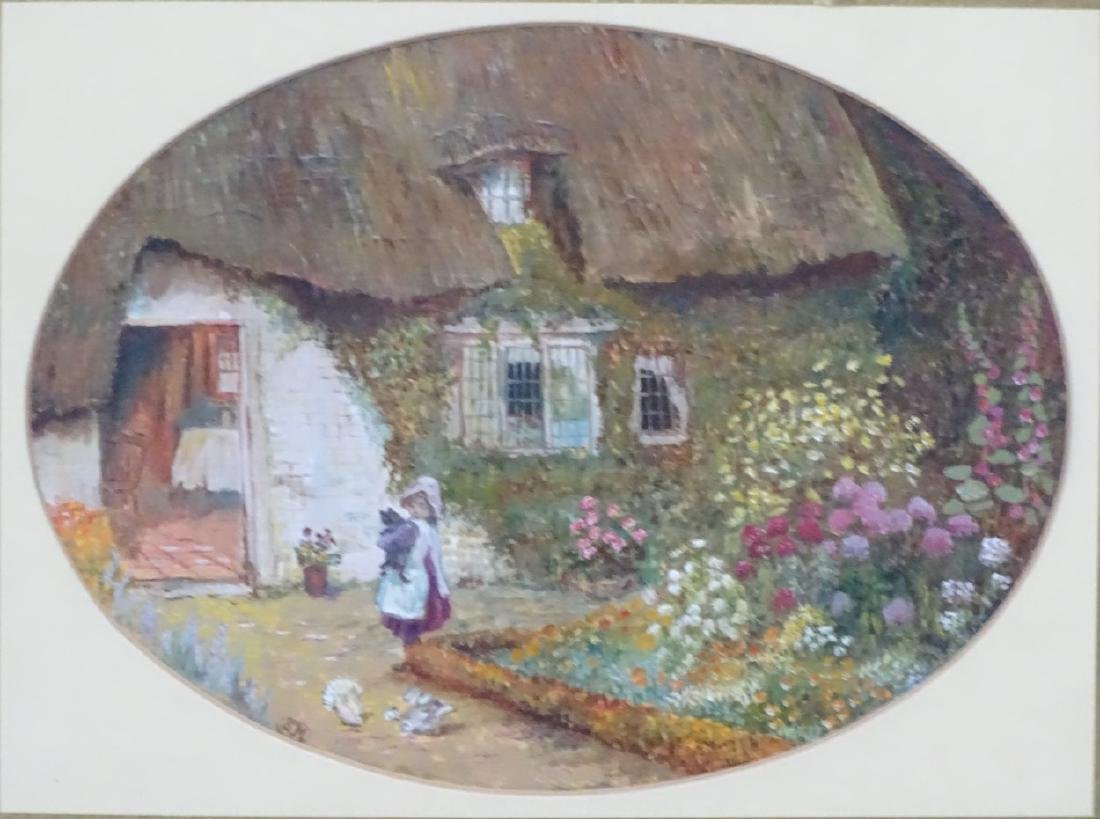 SM, follower of Helen Allingham, Oil on card, an oval, - 3