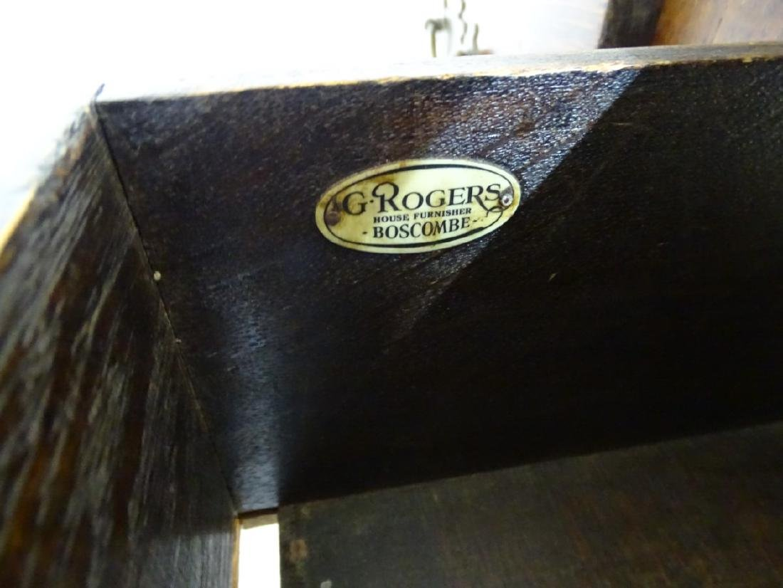 An early 20thC oak pedestal desk comprising a single - 3
