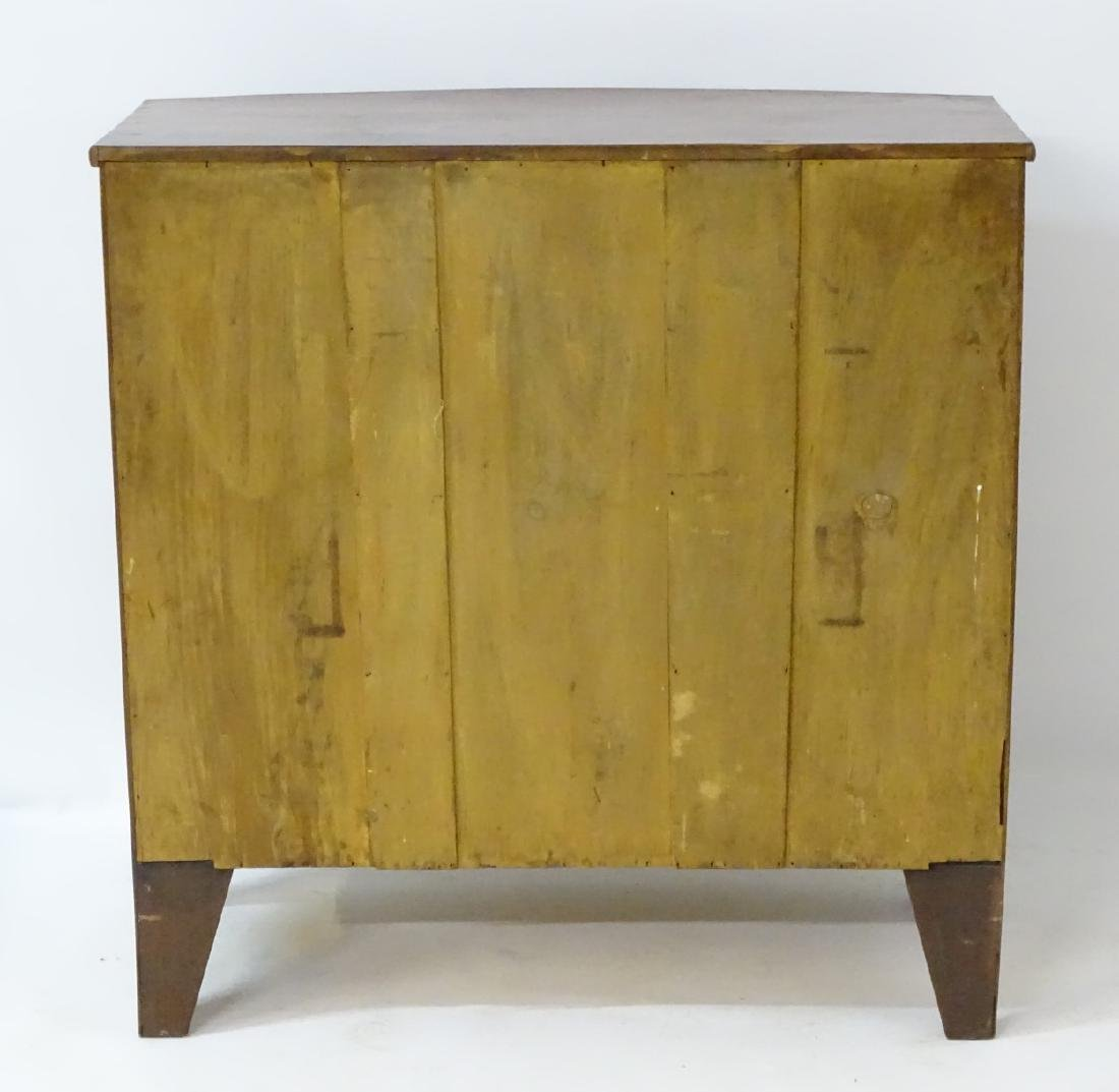 A Victorian mahogany bow fronted chest of drawers, - 3