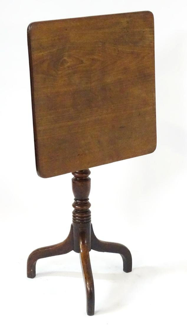 A late 18thC / early 19thC mahogany square tilt top