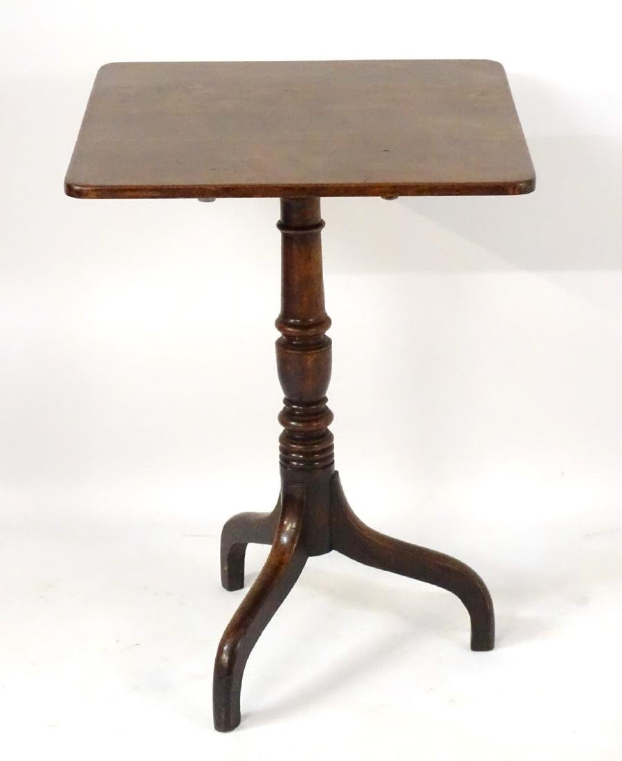 A late 18thC / early 19thC mahogany square tilt top - 3