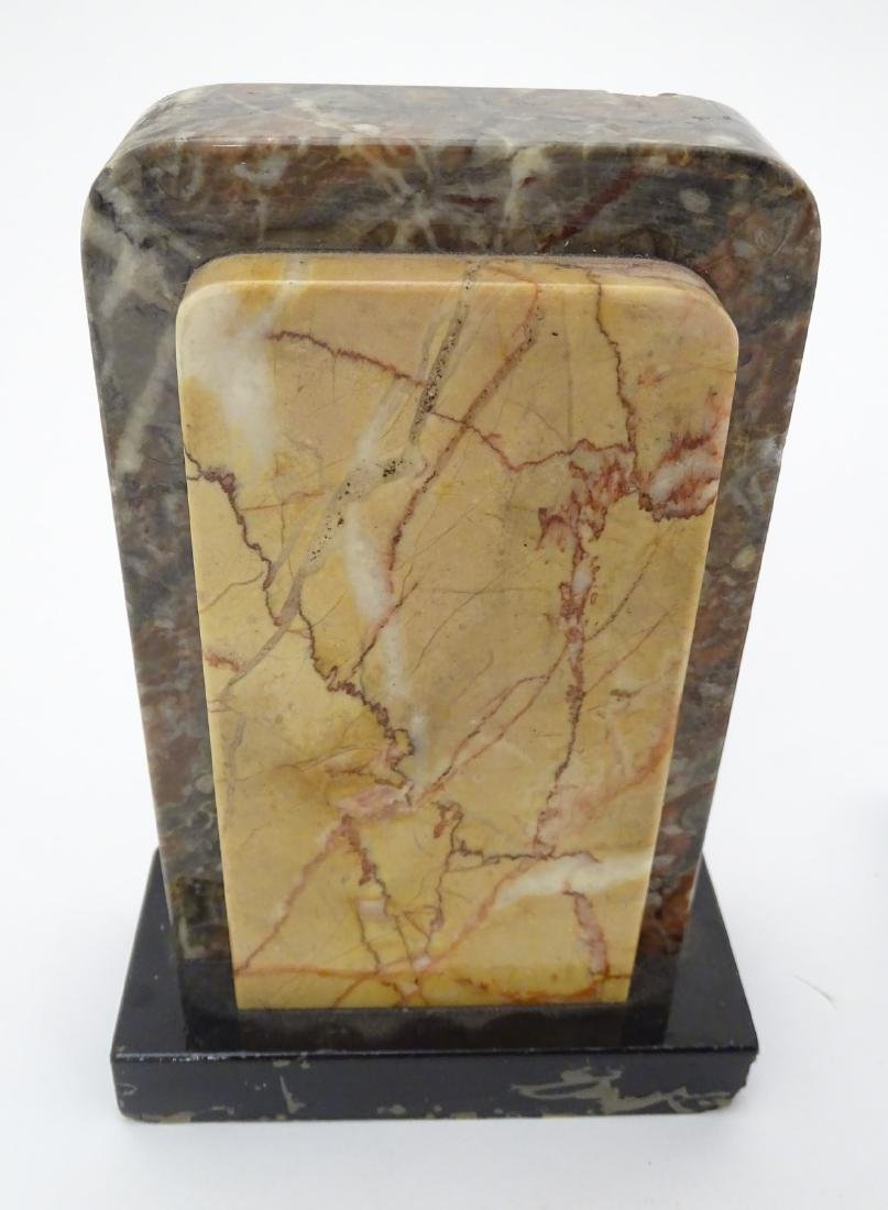 Art Deco Marble Clock : a 7 marble timepiece and - 9