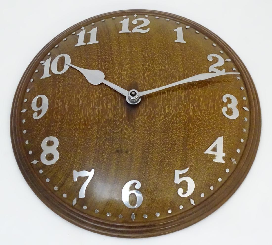Heals Art Deco Wall Clock : A Mappin & Webb convex