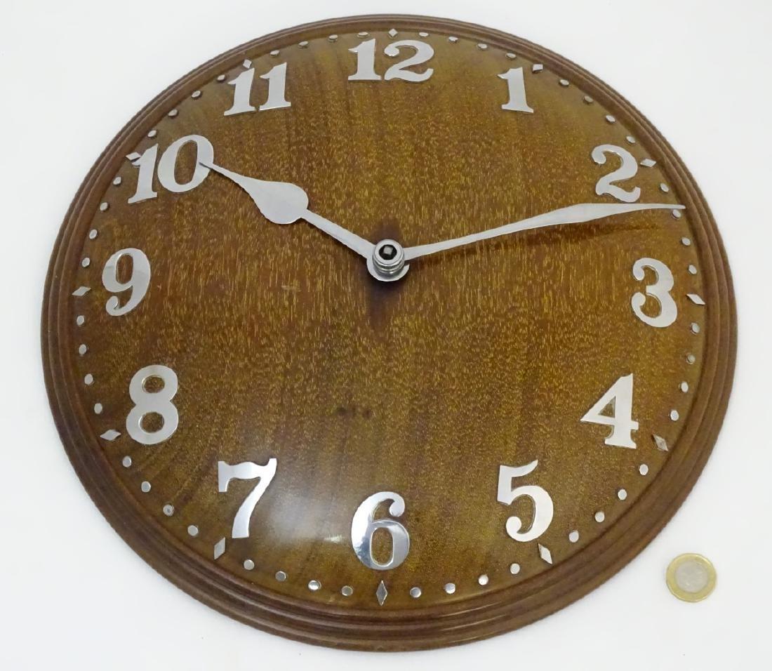 Heals Art Deco Wall Clock : A Mappin & Webb convex - 3