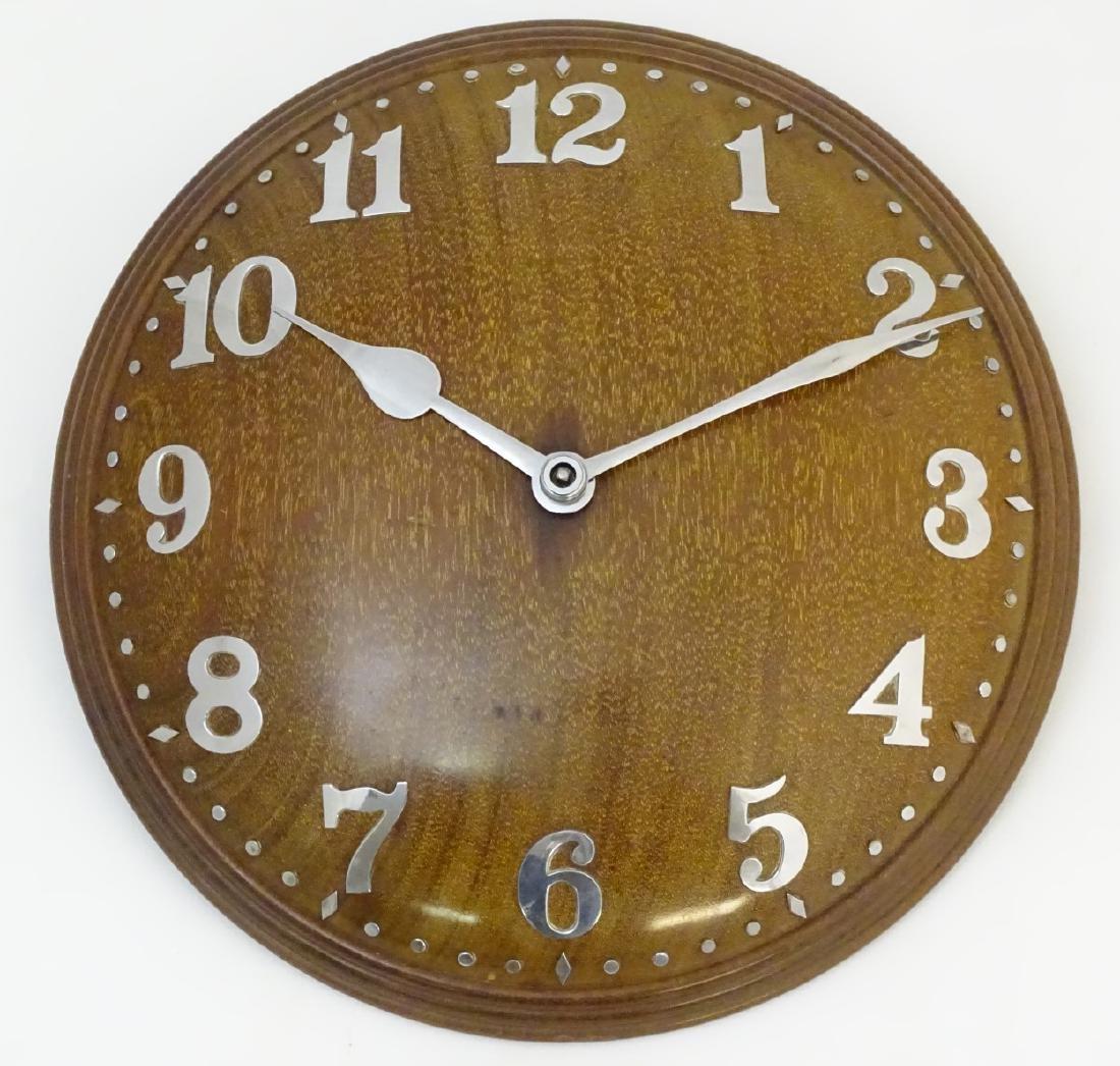 Heals Art Deco Wall Clock : A Mappin & Webb convex - 4
