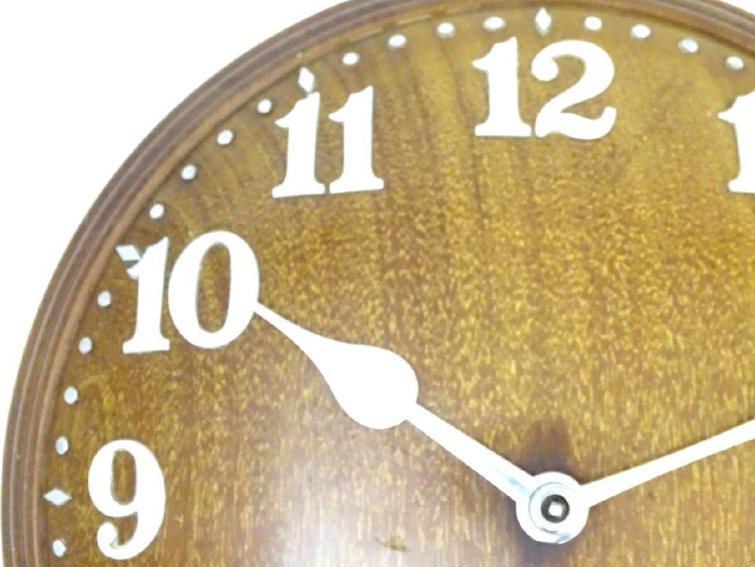 Heals Art Deco Wall Clock : A Mappin & Webb convex - 5