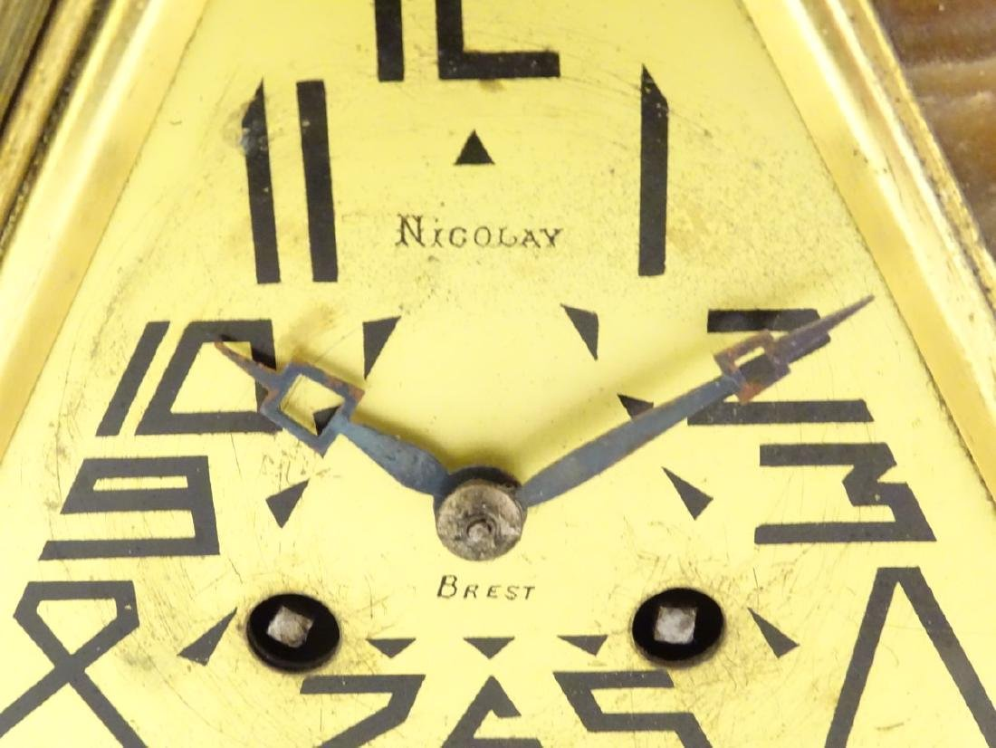 Art Deco clock and garnitures : an impressive two - 9