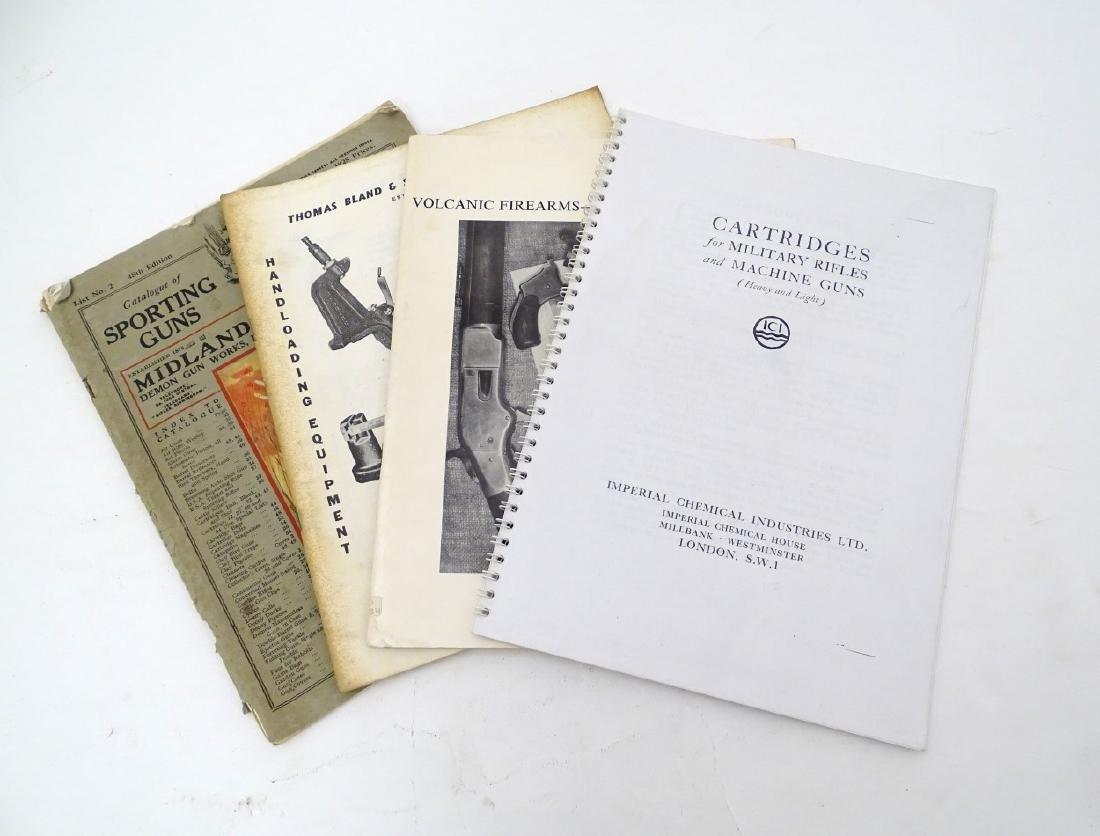 A quantity of gun catalogues, comprising 'Cartridges