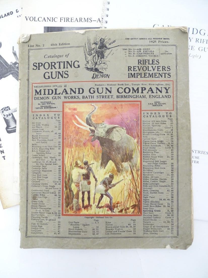 A quantity of gun catalogues, comprising 'Cartridges - 3