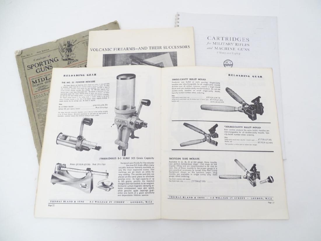 A quantity of gun catalogues, comprising 'Cartridges - 5