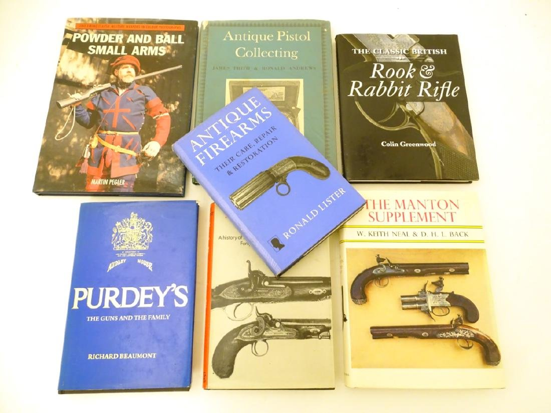 Books: A quantity of books on the subject of guns,