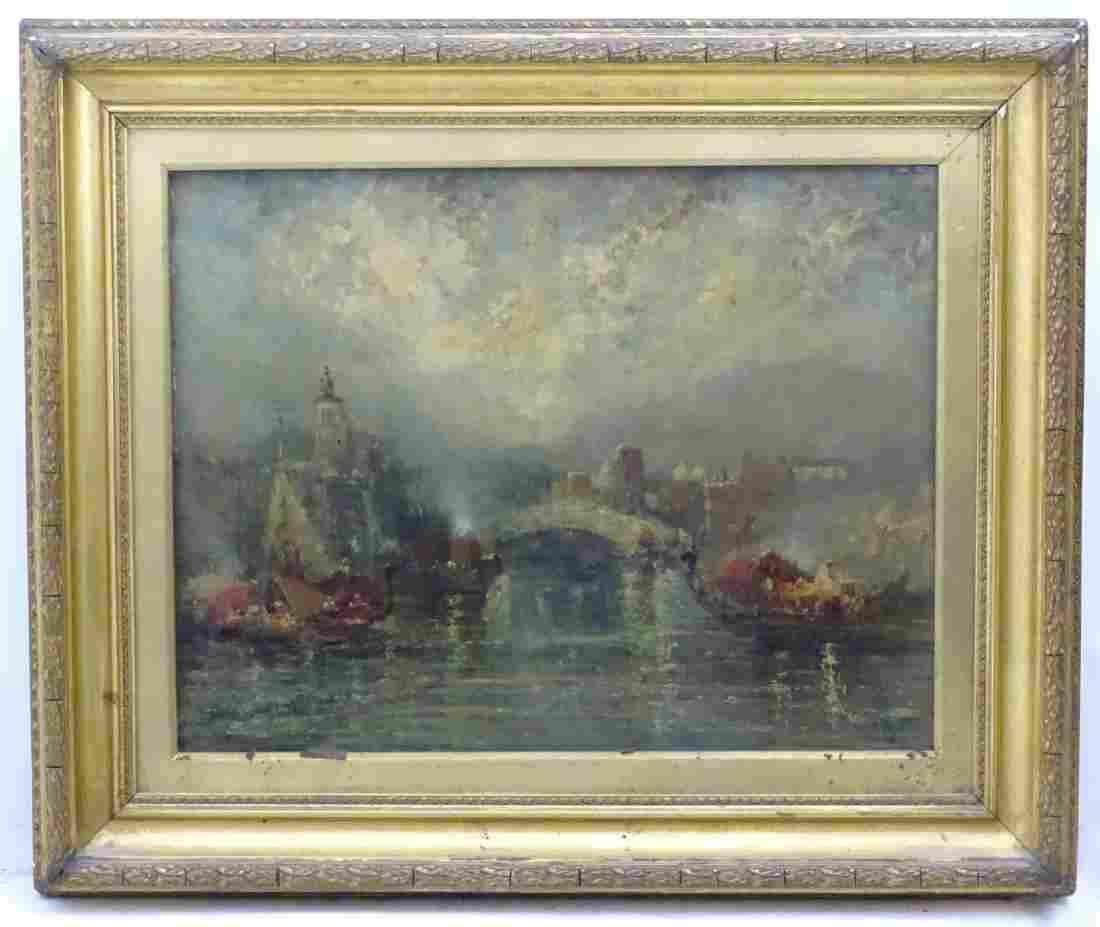 Manner of James Salt, XIX, Oil on board,  View of