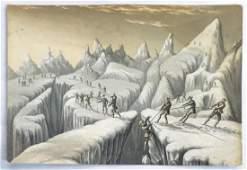 George Baxter  Rare lithograph  print