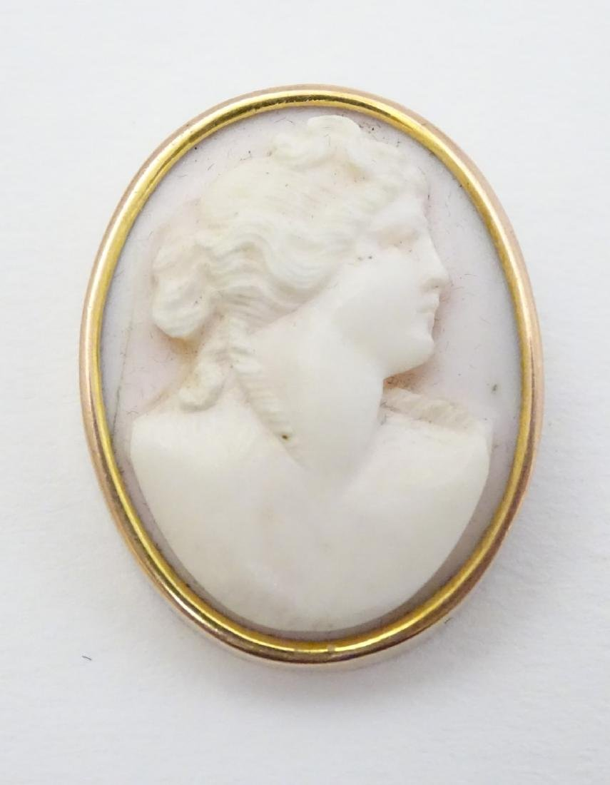 A Victorian shell carved cameo brooch depicting the