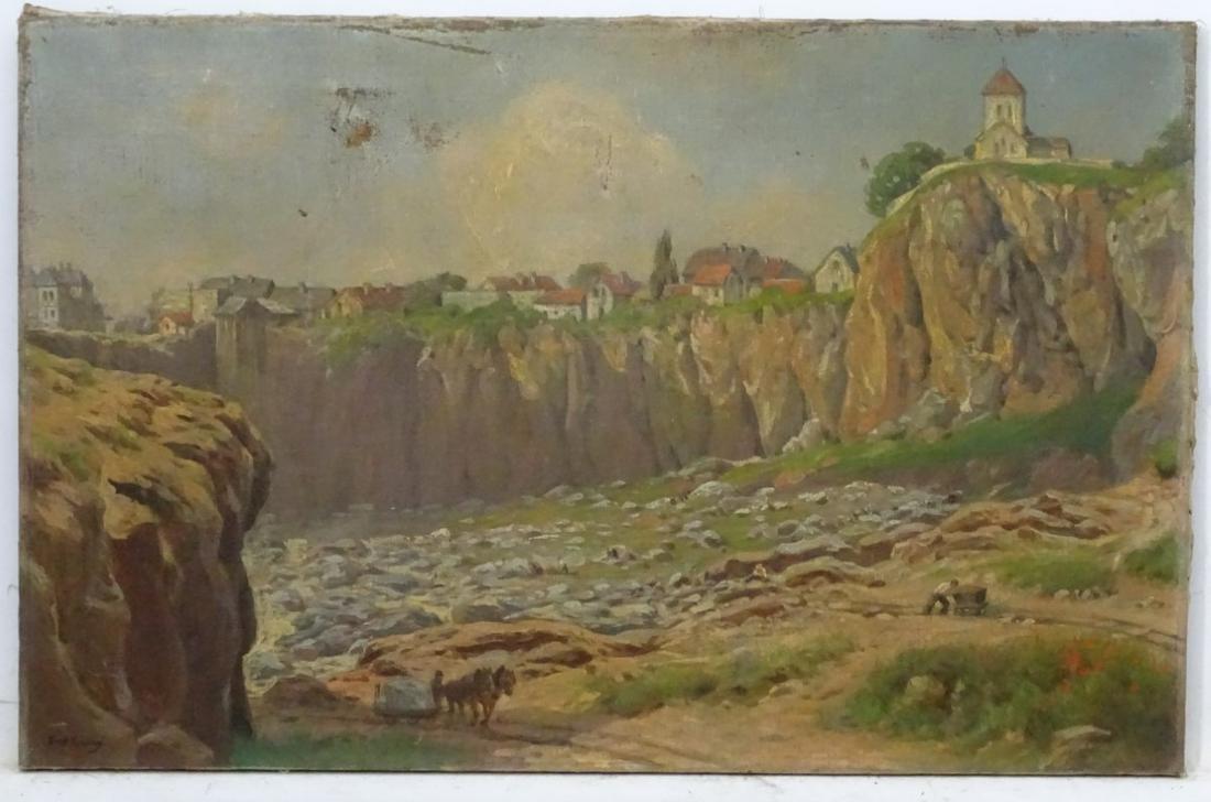 Ernst Kiesling (1851-1929) German, Oil on canvas, Stone