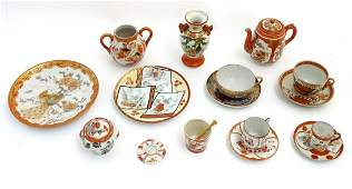 A quantity of assorted Japanese wares to include