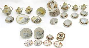A large quantity of assorted hand painted Japanese