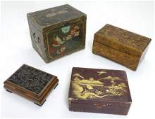 A collection of four oriental boxes to include a