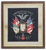 Militaria a c1900 US Navy framed memento entitled In