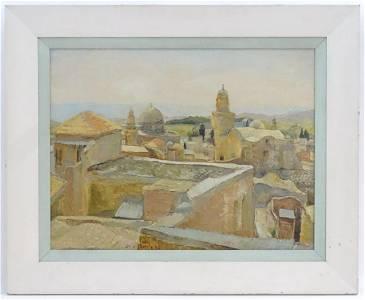 Sala Russota, XX,  Oil on canvas,  Jerusalem, Israel, A