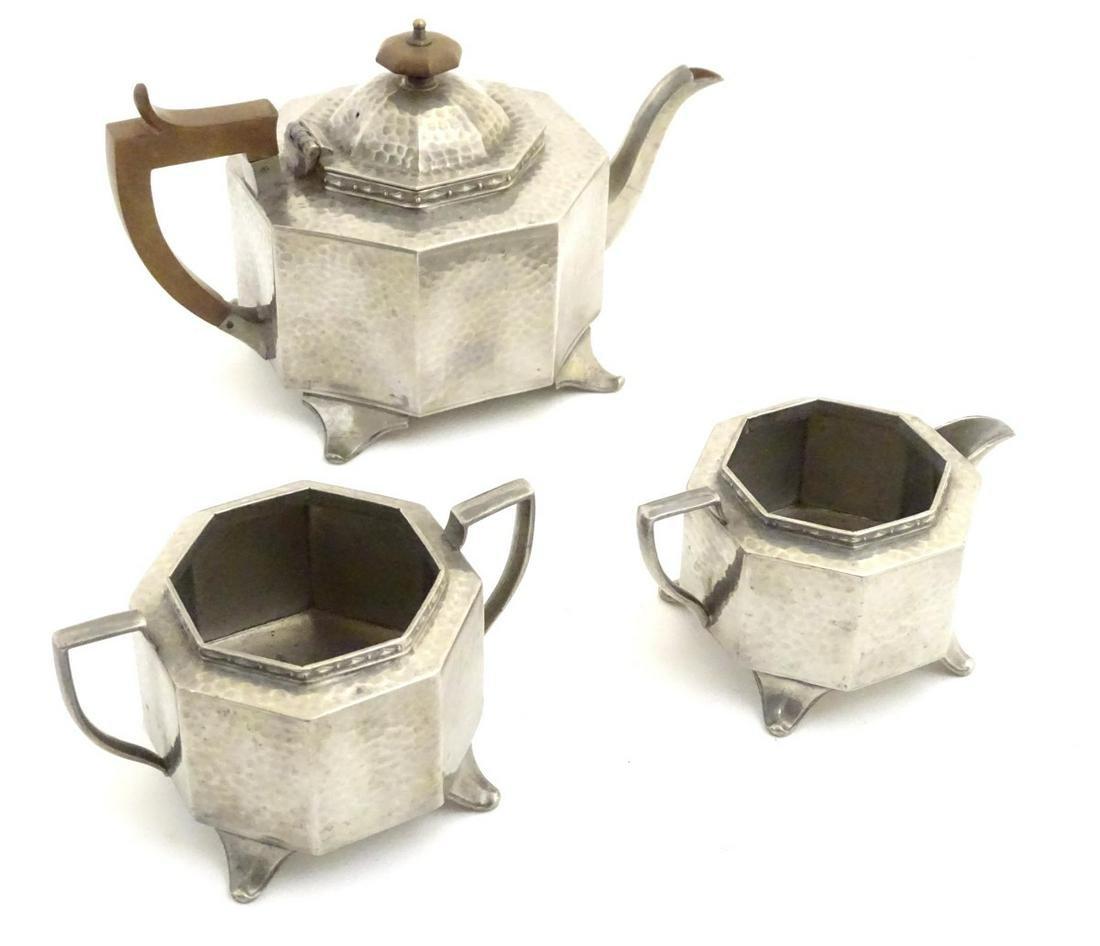 Decorative Metalware: Three items of Arts & Crafts