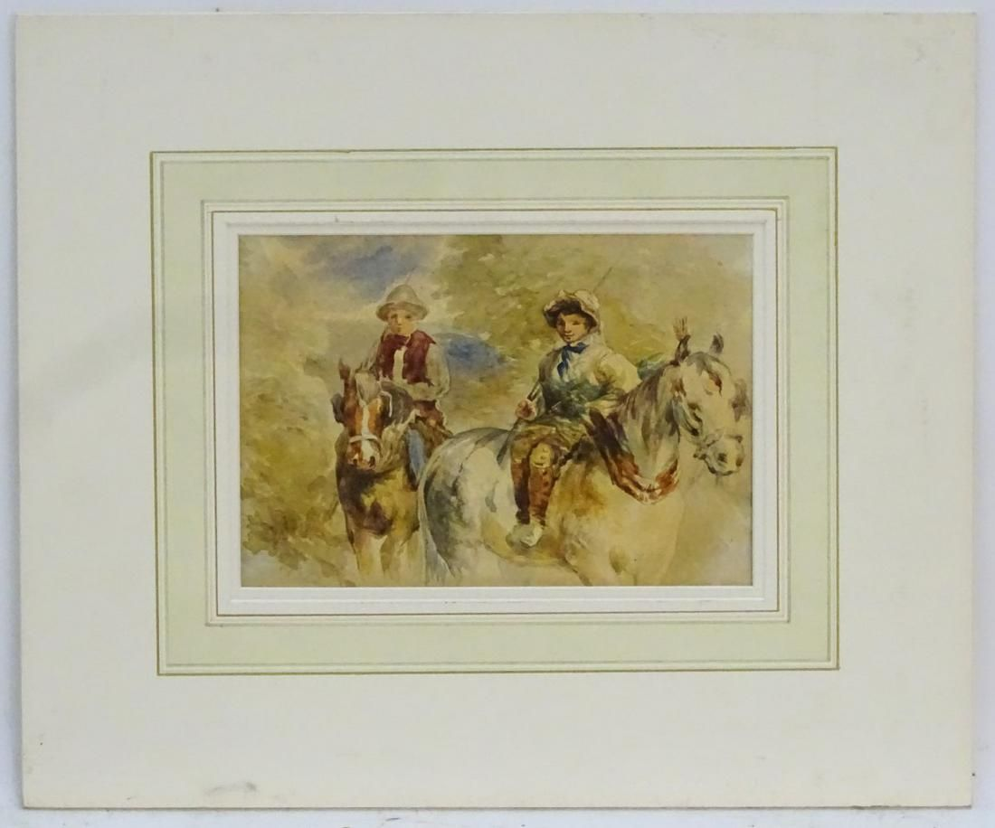 XIX-XX, Continental School,  Watercolour,  Two young