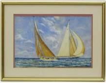 E Hewitt XX Marine School  Watercolour  Two