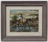 Ramon Kelley b 1939 American School Oil on canvas