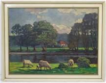 Hubert CramerBerke 1886 German School  Oil on