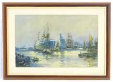 Frank H Mason XX Marine School  Print  Docking on