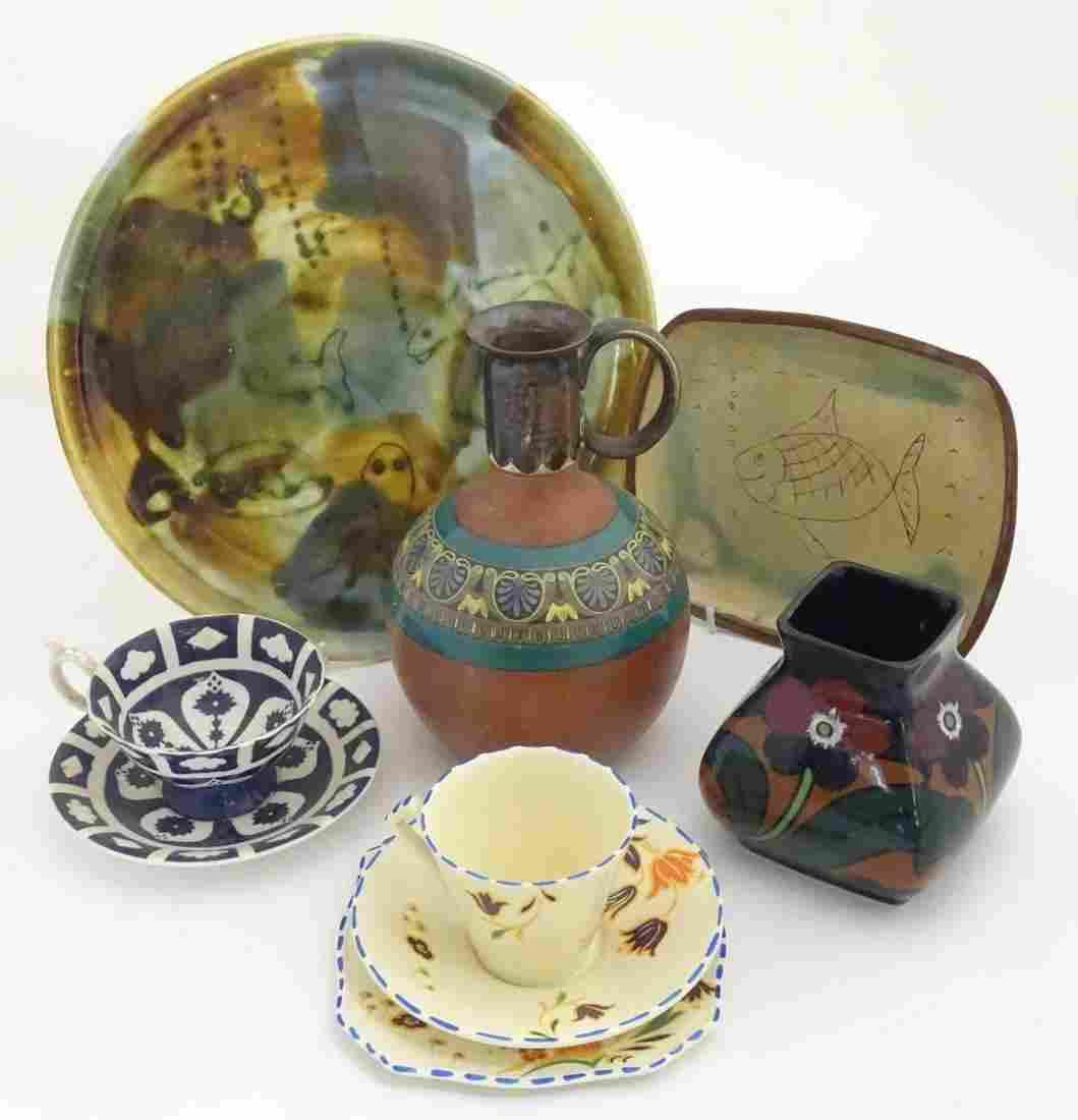 A quantity of assorted ceramics to include a terracotta